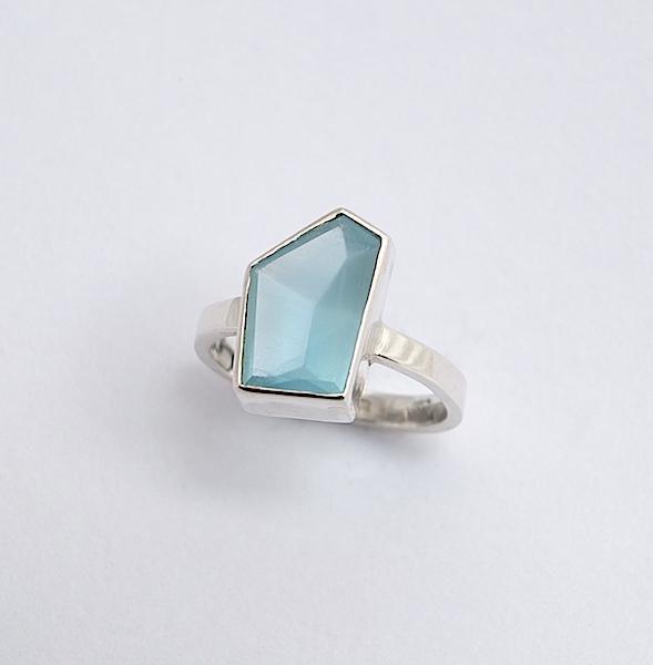 5-sided aquamarine ring