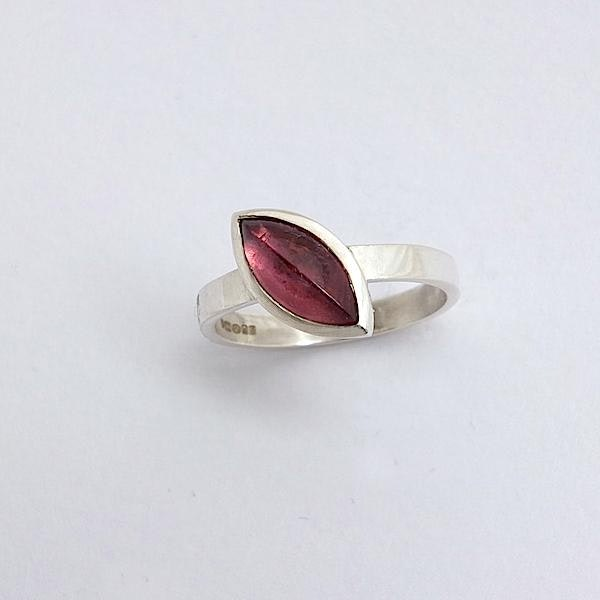 red tourmaline marquise ring