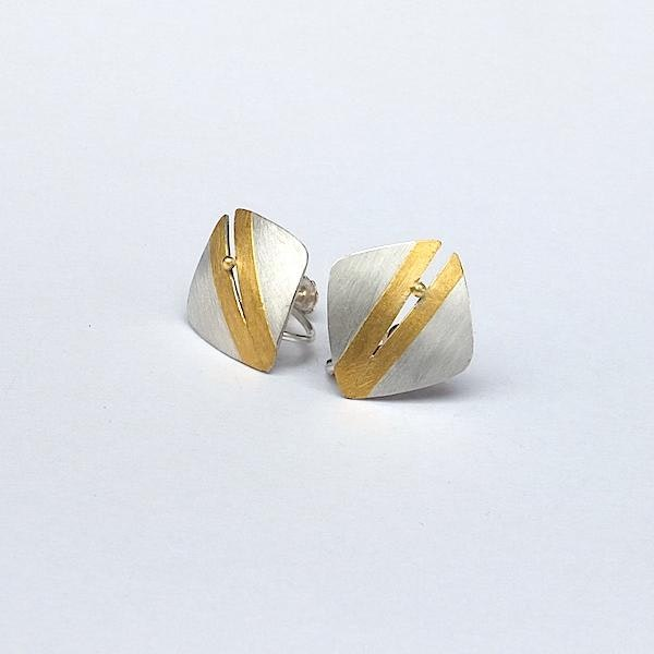 split silver with 24ct gold gold